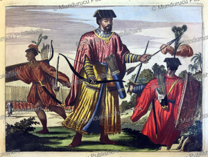 archers in the chinese army, china, olfert dapper, 1670