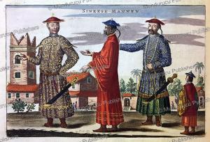 chinese men, jan nieuwhof, 1644