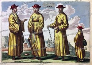 the envoy of lama's, china, jan nieuwhof, 1644
