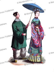 Chinese lady and servant, Adolphe Franc¸ois Pannemaker, 1843 | Photos and Images | Travel