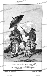 chinese lady with her son and servant, alexandre, 1830