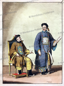 old chinese emperor in his chair, g. bigatti, 1827