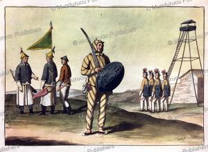 chinese infantry, g. bigatti, 1827