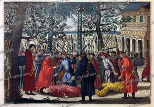 the last ming emperor chongzhen hanged himself after killing his own daughters, china, jan nieuwhof, 1644