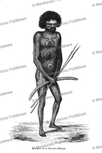 aboriginal of new holland (australia), euge`ne delessert, 1848