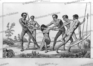 marriage ritual of aboriginals of new holland (australia), victor marie felix danvin, 1838