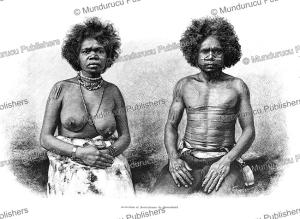 aboriginals from queensland, northeast australia, thiriat, 1888