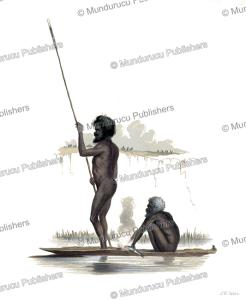 aboriginals fishing, australia, james william giles, 1847