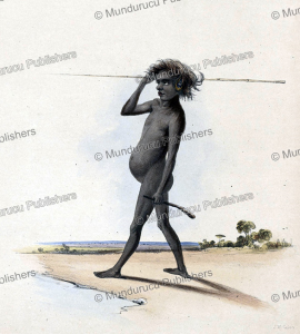 Aboriginal with spear and boomerang, Australia, James William Giles, 1846 | Photos and Images | Travel