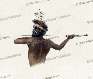 Aboriginal with throwing spear, Australia, James William Giles, 1846 | Photos and Images | Travel