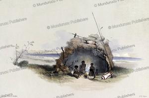 native dwelling of south australia, james william giles, 1847