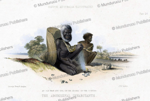 Old man and a girl, Australia, James William Giles, 1847 | Photos and Images | Travel