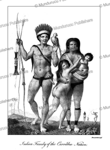 indian family of the carribbee nation, surinam, benedetti, 1785