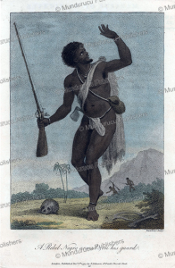 Armed rebel Negro, Surinam, Francesco Bartolozzi, 1818   Photos and Images   Travel