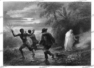 a scene of horror, surinam, pierre benoit, 1839