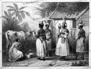 Black women carrying milk, Surinam, Pierre Benoit, 1839 | Photos and Images | Travel
