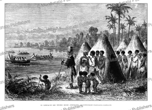 The chief of the Bush Negros expecting a Dutch-French delegation, Dutch Guiana, E´douard Riou, 1867 | Photos and Images | Travel