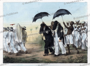 slaves in mourning, surinam, pierre jacques benoit, 1840