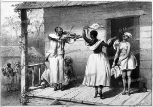 black slave woman dancing, pierre jacques benoit, 1839
