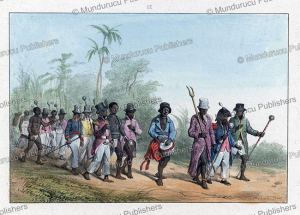 march by maroons in surinam, pierre jacques benoit, 1840