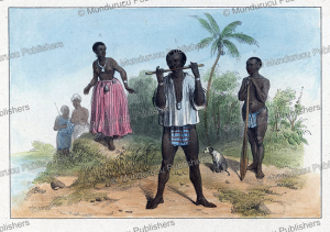 bush negro's of surinam, pierre jacques benoit, 1840