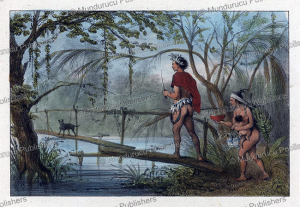 hunting indians, surinam, pierre jacques benoit, 1839