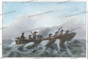 indian canoe, surinam, pierre jacques benoit, 1839