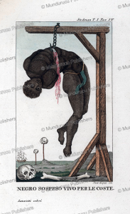 A slave hung alive by his ribs, Dall'Acqua, 1818 | Photos and Images | Travel