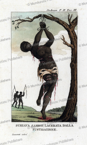 Flagellation of a female slave, Surinam, Dall'Acqua, 1818 | Photos and Images | Travel