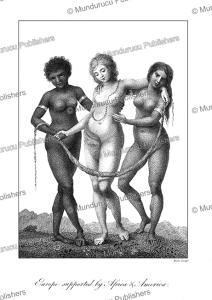 woman of europe, africa and america, john stedman, 1785