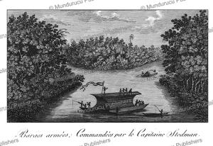 Armed boat of Captain Stedman, Surinam, JTardieu L'ai^ne´, 1784 | Photos and Images | Travel