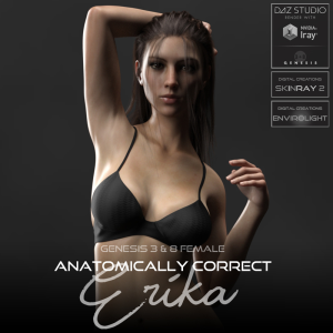 anatomically correct: erika for genesis 3 and genesis 8 female