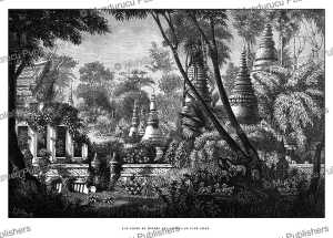 view taken amidst the ruins of vien chan (vientiane), laos, louis delaporte, 1873