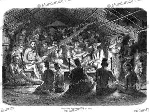 laotian people making music, laos, charles laplante, 1871