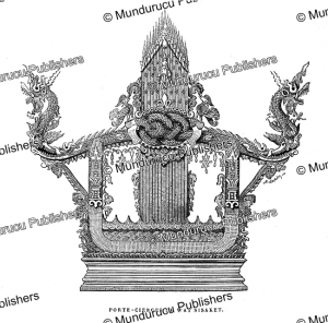 dragon-chair out of the si saket wat (temple), vientiane, laos, e. the´rond, 1873