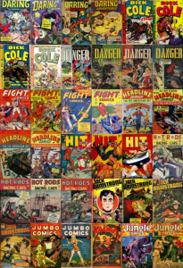 44 3d comics danger, dick cole, fight, hot rods jumbo, jungle + 3d glasses