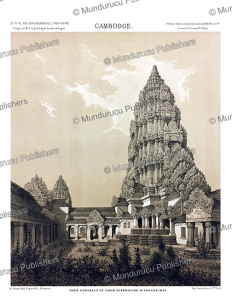 central tower of angkor wat, cambodia, louis delaporte, 1873