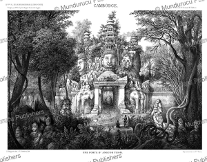 An entrance of Angkor Thom, Cambodia, Louis Delaporte, 1873 | Photos and Images | Travel