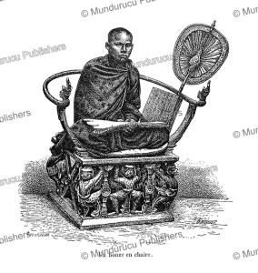 a buddhist religious teacher, cambodia, pho. michelet, 1883