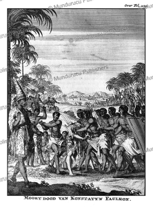 execution of constantine phaulkon during the siamese revolution in 1688, a. bogaerts, 1711