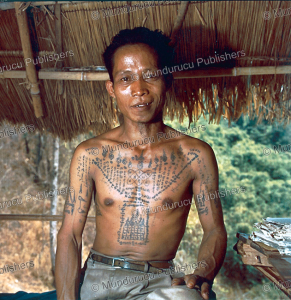 A modern Thai with protective tattoos, frontside, Maarten Hesselt, 1995 | Photos and Images | Travel