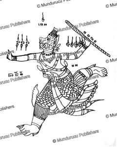 Hanuman tattoo motif, Thailand, Barend Jan Terwiel, 1968 | Photos and Images | Travel
