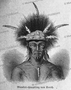 Dorre´ chief of New Guinea, S. Friedmann, 1868 | Photos and Images | Travel