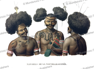natives of dorey harbour, papua new guinea, lejeune and chazal, 1826