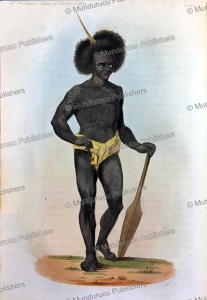 man of papua new guinea, after jacques arago, 1848