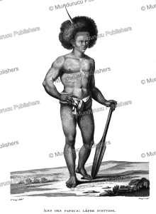man from papua new guinea, jacques arago, 1822