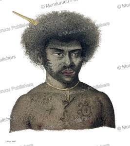 Native of Rawak Island (Rauki Island), Papua New Guinea, Alphonse Pellion, 1820 | Photos and Images | Travel