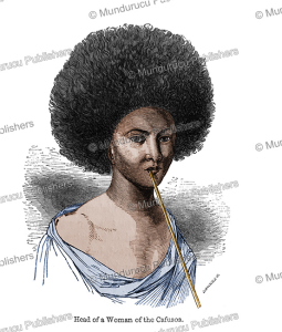 head of a woman of the cafusos, papua new guinea, james cowles prichard, 1848