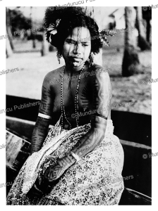 Fully tattooed young girl of Australian New Guinea, 1960 | Photos and Images | Travel