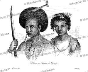 Man and woman from Dorey Harbour, Papua New Guinea, Louis Auguste de Sainson, 1839 | Photos and Images | Travel